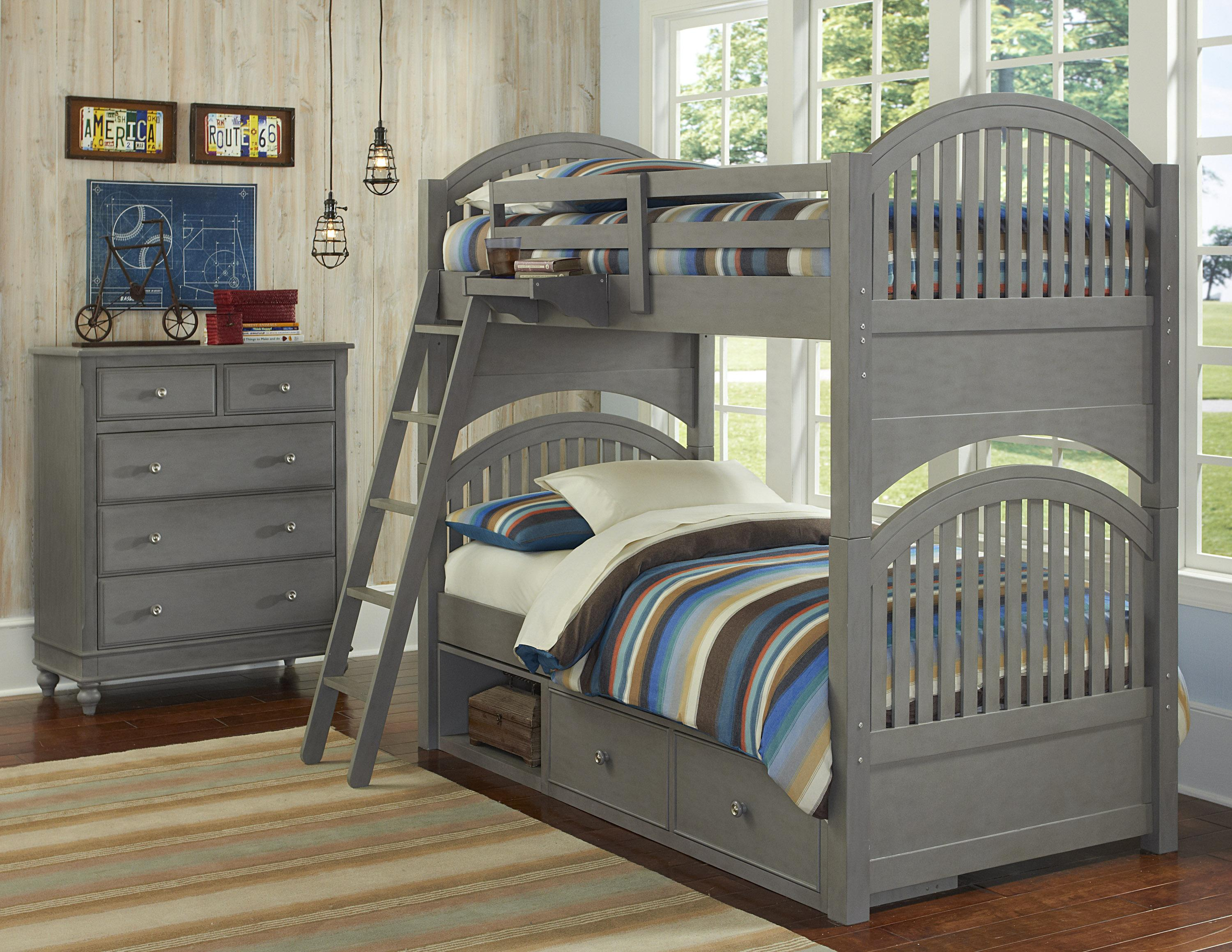 NE Kids Lake House Twin Storage Bunk Bed  - Item Number: 200 T Bunk Bed Group 1
