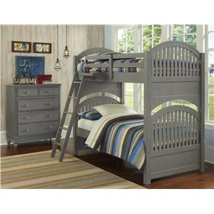 NE Kids Lake House Twin Standard Bunk Bed
