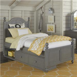 NE Kids Lake House Twin Payton (Arch) Bed + Storage Unit