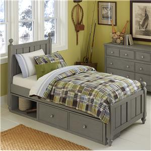 NE Kids Lake House Twin Kennedy (Panel) Bed + Storage Unit