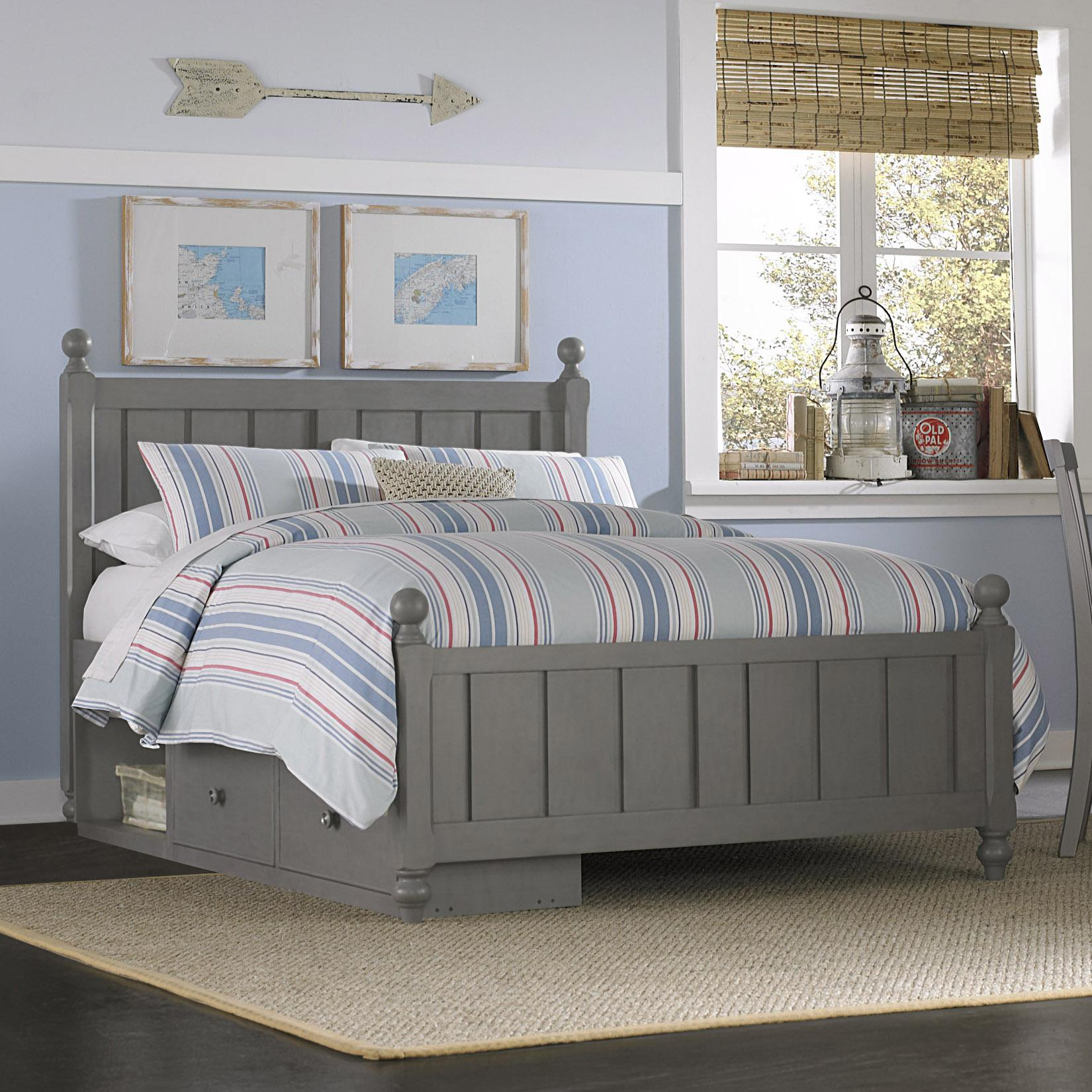 Full Kennedy (Panel) Bed + Storage Unit