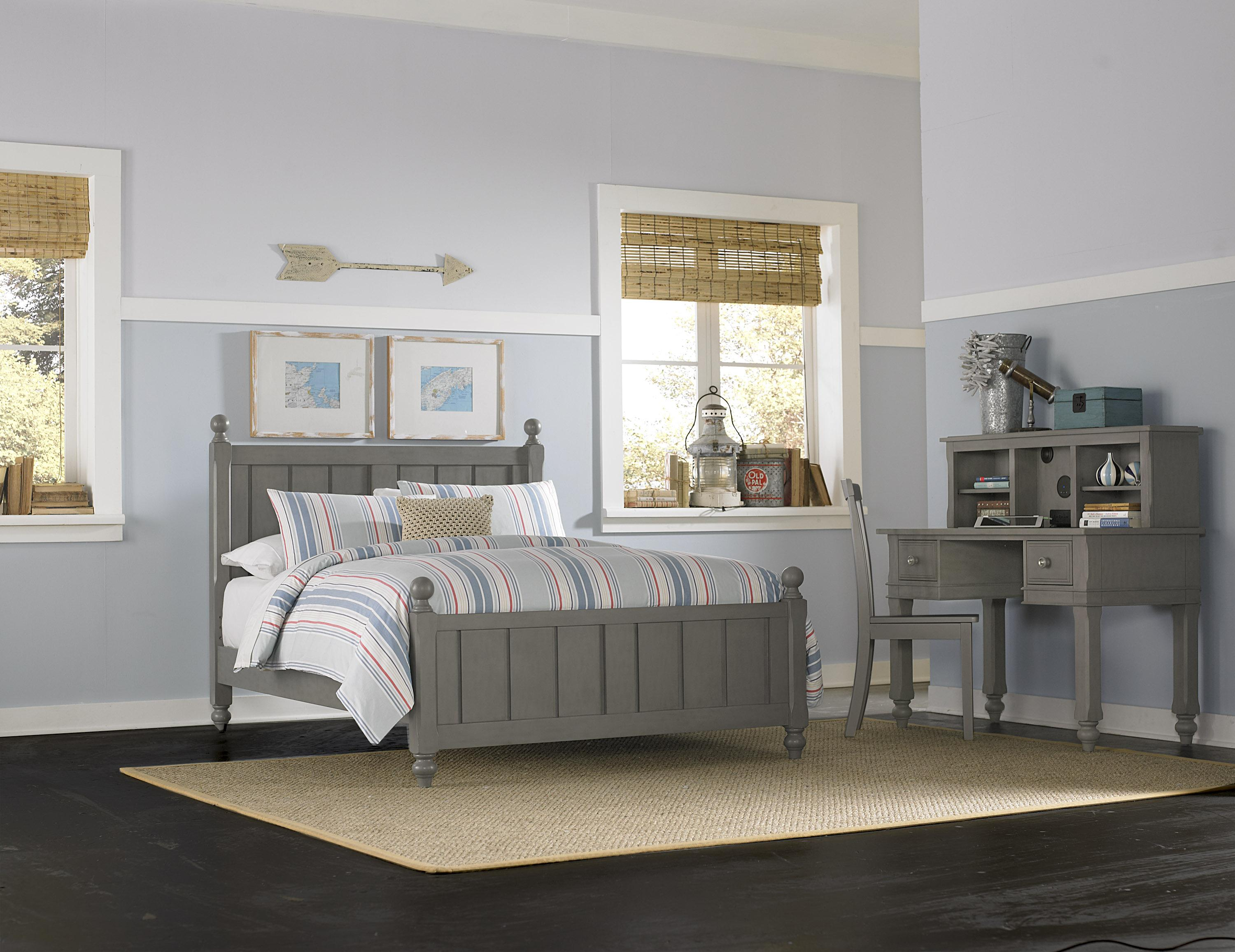 NE Kids Lake House Full Panel Bed With Chamfered Posts And