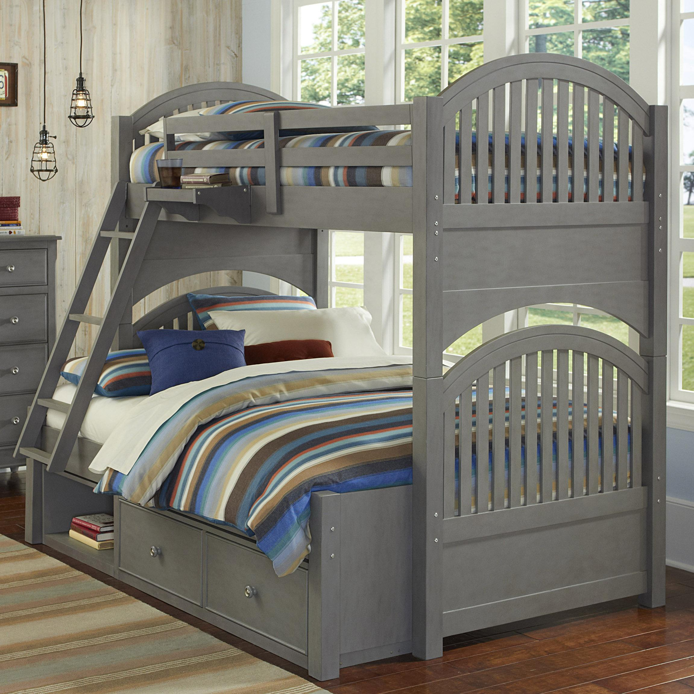 NE Kids Lake House Adrian Twin over Full Bunk + Storage - Item Number: 2035+2580