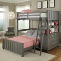 NE Kids Lake House Lofted Bed with Full Lower Bed - Item Number: 2040NLFB