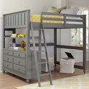 NE Kids Lake House Lofted Full Bed - Item Number: 2045N