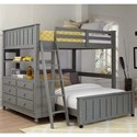 NE Kids Lake House Lofted Full Bed with Full Lower Bed - Item Number: 2045NLFB