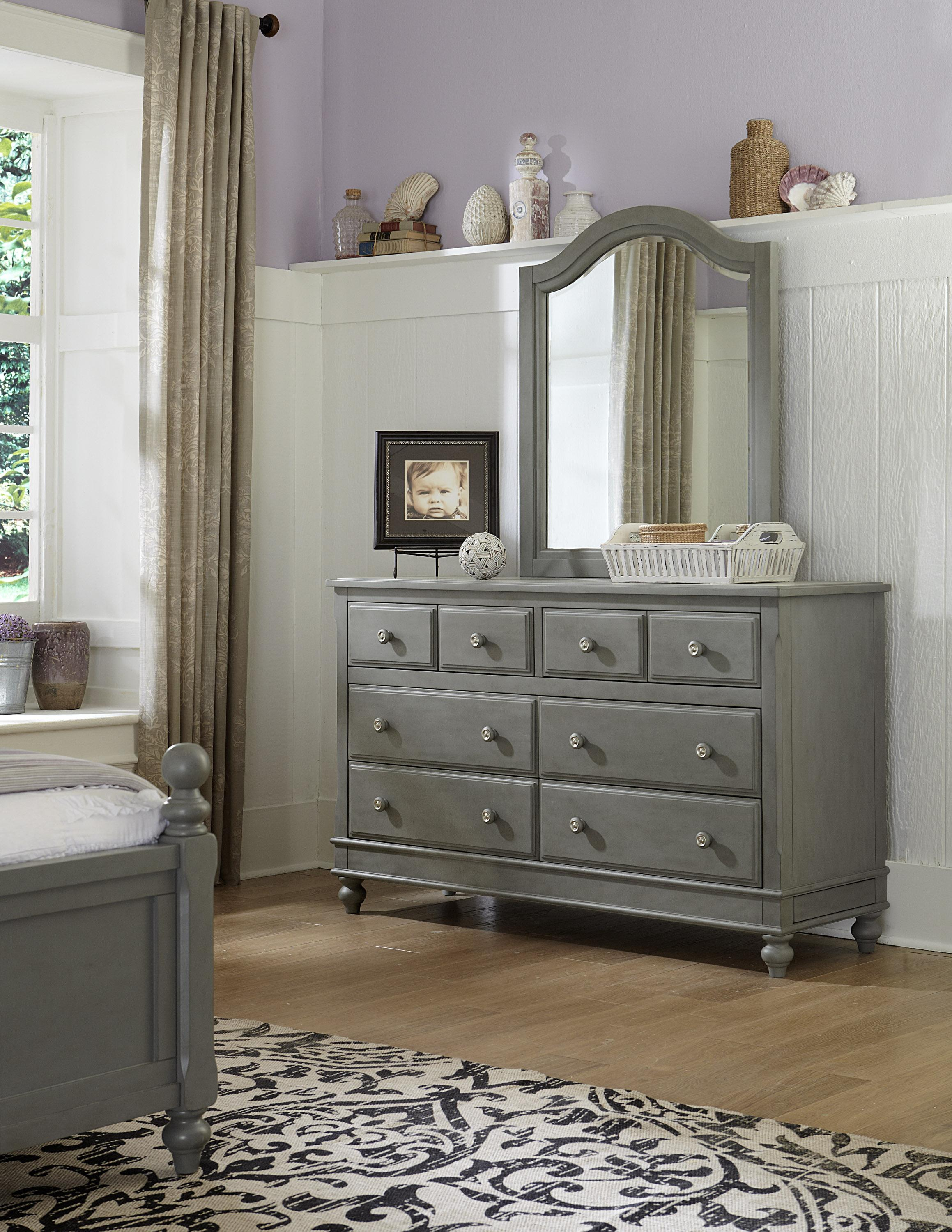 NE Kids Lake House 8 Drawer Dresser + Arched Mirror - Item Number: 2500+2510