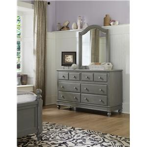 NE Kids Lake House 8 Drawer Dresser + Arched Mirror