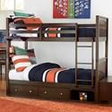 NE Kids Pulse Bunk Bed with Storage - Item Number: 32040N+32570