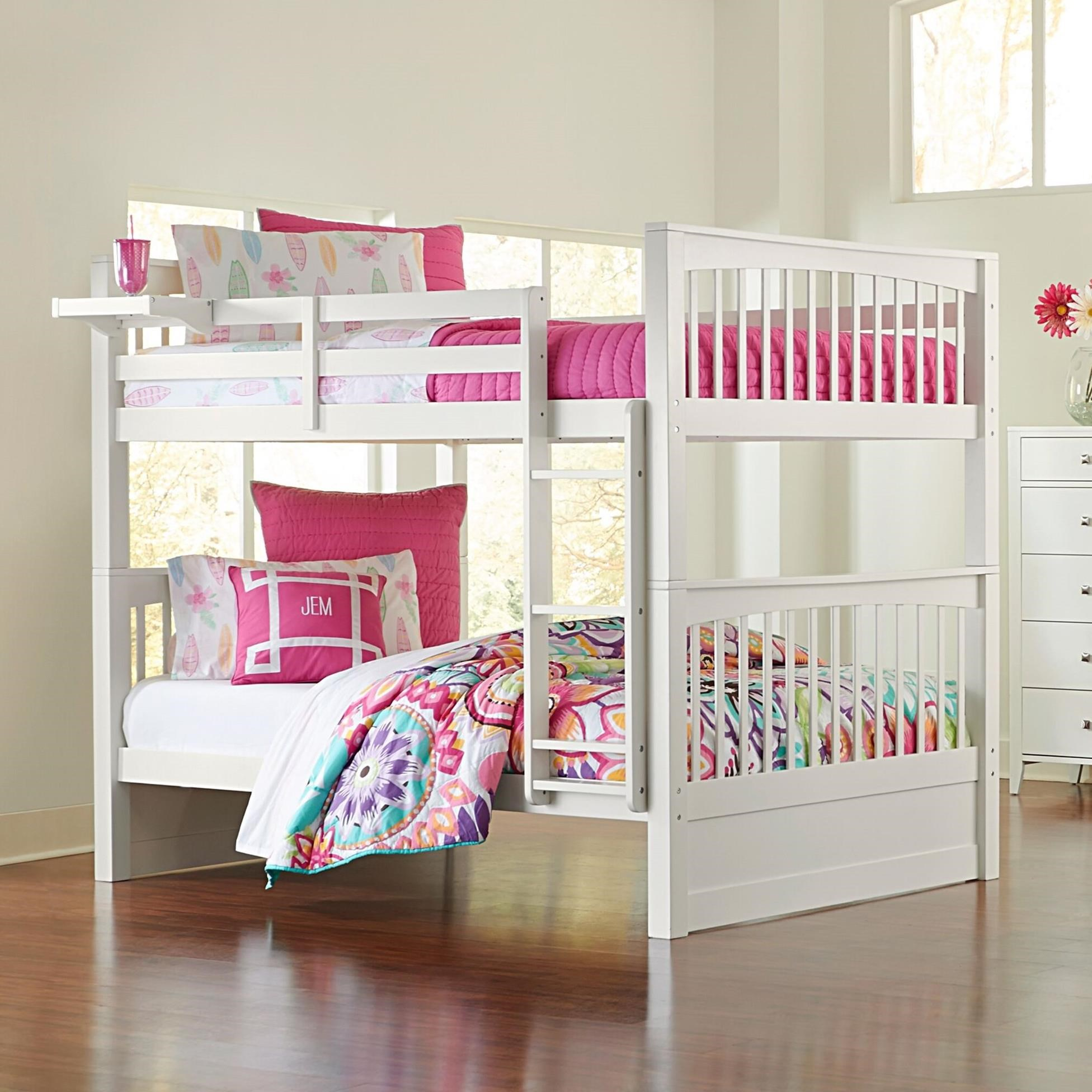Picture of: Ne Kids Pulse Mission Style Twin Over Twin Bunk Bed Goffena Furniture Mattress Center Bunk Beds