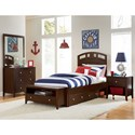 NE Kids Pulse Twin Bedroom Group - Item Number: Chocolate T Bedroom Group 1