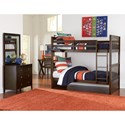 NE Kids Pulse Twin Bedroom Group - Item Number: Chocolate TT Bedroom Group 1