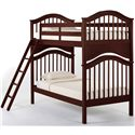 NE Kids School House Jordan Twin over Twin Bunk Bed - Shown with Ladder