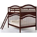 NE Kids School House Full Jordan Child's Bed - Shown as Bunk Bed with Ladder