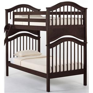 NE Kids School House Jordan Twin over Twin Bunk Bed