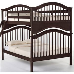 NE Kids School House Jordan Full over Full Bunk Bed
