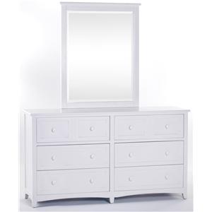 NE Kids School House Dresser and Mirror