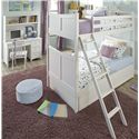 NE Kids School House Child's Desk Chair - Shown in Room Setting with Bunk Bed, Desk and Hutch