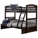 NE Kids Schoolhouse 4.0 Twin Over Full Bunk Bed - Item Number: 2183-5TFB