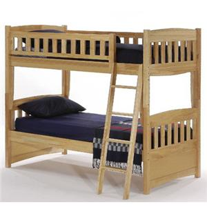 NE Kids Spice Natural Twin/Twin Spice Bunk Bed