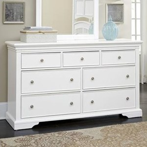 NE Kids Walnut Street 7 Drawer Dresser