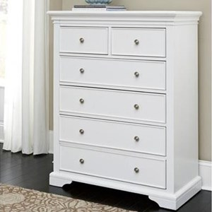 NE Kids Walnut Street 6 Drawer Chest
