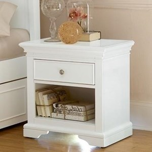 NE Kids Walnut Street Power/Lite Nightstand