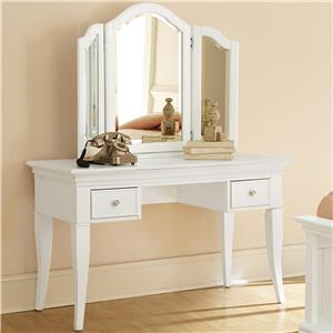 NE Kids Walnut Street Desk with Vanity