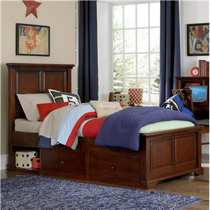NE Kids Walnut Street Twin Devon Panel Bed