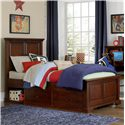 NE Kids Walnut Street Twin Devon Panel Bed - Item Number: 9020+9090
