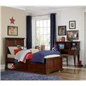 NE Kids Walnut Street Twin Devon Bed with Underbed Storage Unit