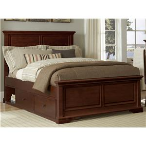 NE Kids Walnut Street Full Devon Panel Bed