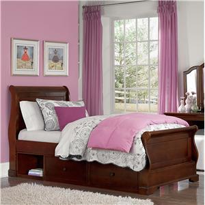 NE Kids Walnut Street Twin Riley Sleigh Bed
