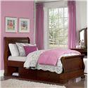 NE Kids Walnut Street Twin Riley Sleigh Bed - Item Number: 9030+9090