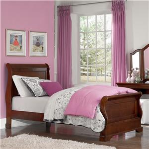 NE Kids Walnut Street Twin Riley Sleigh Bed