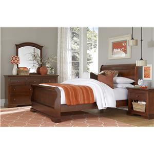 NE Kids Walnut Street Full Riley Sleigh Bed