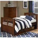 NE Kids Walnut Street Twin Hayden Bed - Item Number: 9050+9090