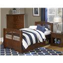 NE Kids Walnut Street Twin Hayden Bed with Storage Unit