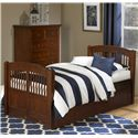 NE Kids Walnut Street Twin Hayden Bed - Item Number: 9050+9560
