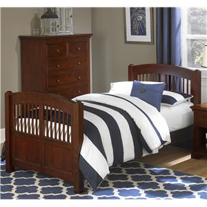 NE Kids Walnut Street Twin Hayden Spindle Bed
