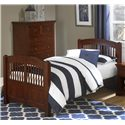 NE Kids Walnut Street Twin Hayden Spindle Bed - Item Number: 9050