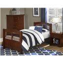 NE Kids Walnut Street Twin Hayden Spindle Bed
