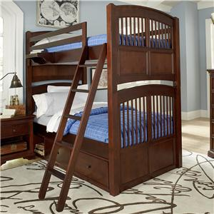 NE Kids Walnut Street Twin Over Twin Bunk Bed