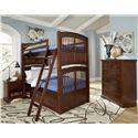 NE Kids Walnut Street Twin Over Twin Hayden Bunk Bed with Underbed Storage