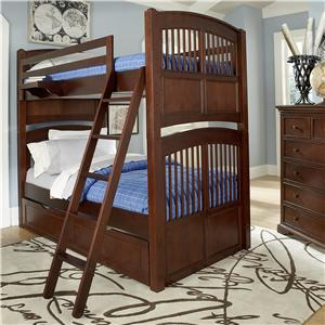NE Kids Walnut Street Twin Over Twin Hayden Bunk Bed