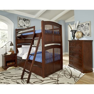 NE Kids Walnut Street Twin Over Twin Hayden Bunk
