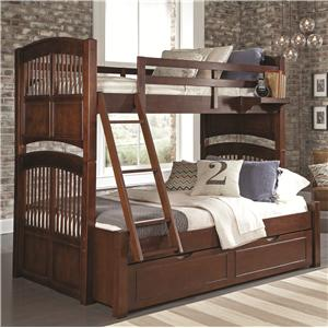 NE Kids Walnut Street Twin Over Full Bunk Bed