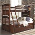 NE Kids Walnut Street Twin Over Full Bunk Bed - Item Number: 9055+9560