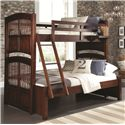 NE Kids Walnut Street Twin Over Full Bunk Bed - Item Number: 9055
