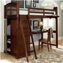 NE Kids Walnut Street Locker Loft with Desk - Item Number: 9060-Desk